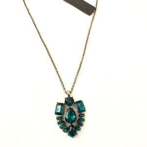 J. Crew Jewelry - J. CREW Emerald Flower Curtain Pendant NWT $59.50